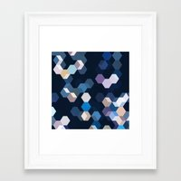 honeycomb Framed Art Prints featuring HONEYCOMB by ED design for fun