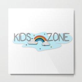 Kids Zone Rainbow Logo sign Metal Print