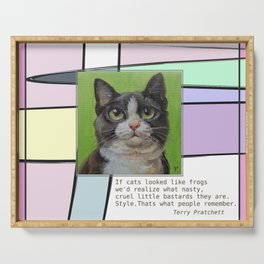 Cat Quote Serving Tray