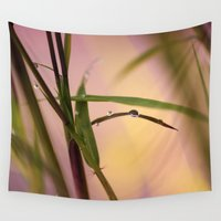 bamboo Wall Tapestries featuring Bamboo by Susann Mielke