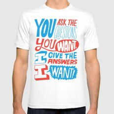 The Answers I Want. Mens Fitted Tee MEDIUM White