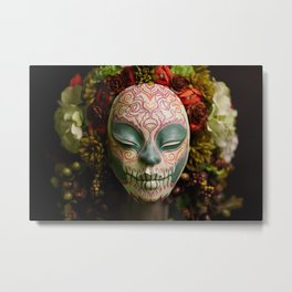 Acorn Harvest Muertita Detail Metal Print