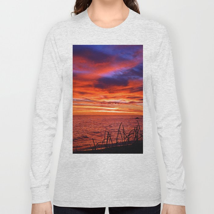The Mighty Saint-Lawrence at Dawn Long Sleeve T-shirt