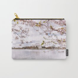 Washington DC Cherry Blossoms - Thomas Jefferson Memorial III Carry-All Pouch