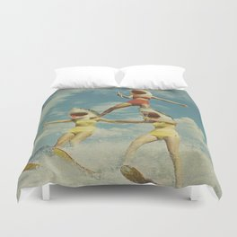 On Evil Beach - Sharks Duvet Cover