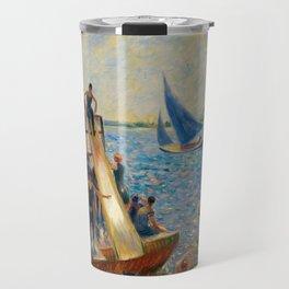 The Raft, William James Glackens, 1915 Travel Mug
