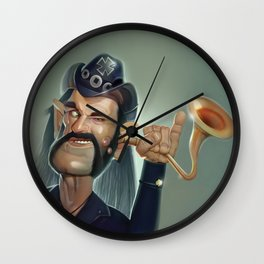 Lemmy hearing aid Wall Clock