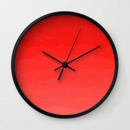 Glowing Red Lipstick Wall Clock