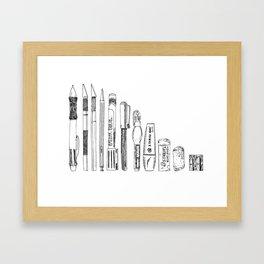 Pencil Case 2 - Artschool Framed Art Print