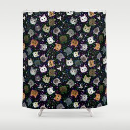Cosmic Cats Shower Curtain