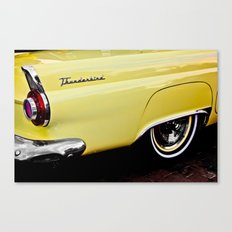 Yellow Vintage Ford Thunderbird Car Canvas Print