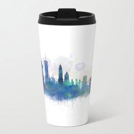 NY New York City Skyline Metal Travel Mug