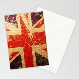 Old Broken England Flag Stationery Cards