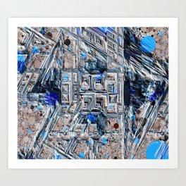 Rocky Outcropping - Negative Art Print