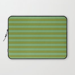 baby poo + mint stripes Laptop Sleeve