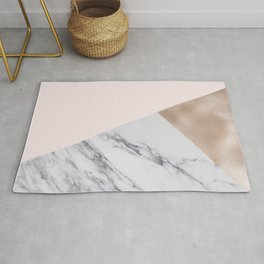 Rosy layers Rug