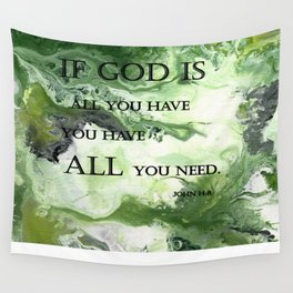 Abstract Acrylic Painting John 14:8, Blble Scripture Wall Tapestry