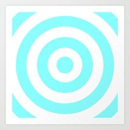 Target (Aqua & White Pattern) Art Print