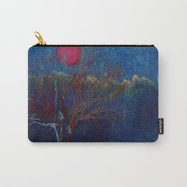 Abstract watercolor landscape with tree Carry-All Pouch