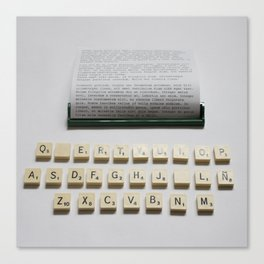 Scrabble Typewriter Canvas Print