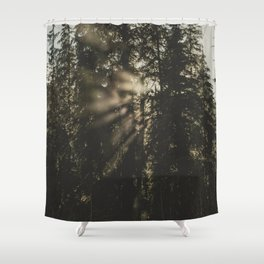 Sunset in the Woods - Nature Photography Shower Curtain
