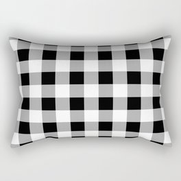 Black and White Check Rectangular Pillow