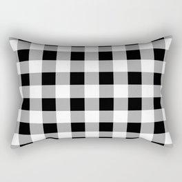 Black and White Check Rectangular Pillow