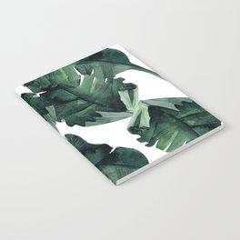Banana Leaves Pattern Green Notebook