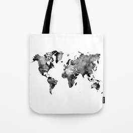 map black and white #map #world Tote Bag