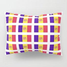 flag of andorra- andorre,andorra,andorran,catalan,pyrenees,pyrenean Pillow Sham