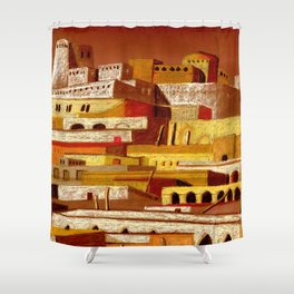 The fortress at sunset Shower Curtain