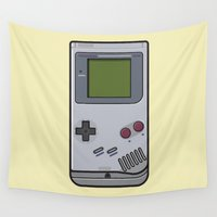 nintendo Wall Tapestries featuring #44 Nintendo Gameboy by Brownjames Prints