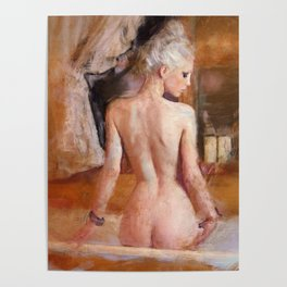 The Platinum Woman - A Nude Study Poster