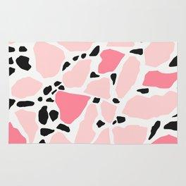 Big Terrazzo Style in Pink Rug