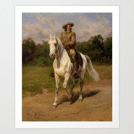 Col. William Buffalo Bill , Cody Rosa Bonheur, 1889 Art Print