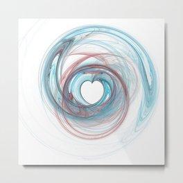 Valentine's Fractal IX - Light Metal Print