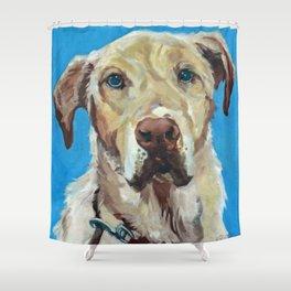 Golden Labrador Dog Portrait Shower Curtain