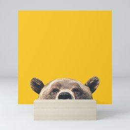 Bear - Yellow Mini Art Print