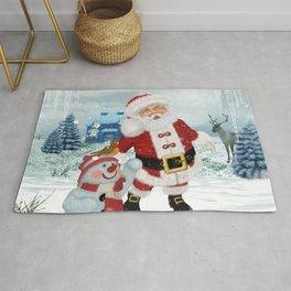 Funny Santa Claus Rug