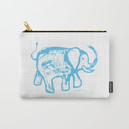 Blue elephat Carry-All Pouch
