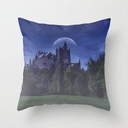 Alcazar de Segovia, old medieval palace in Segovia. Throw Pillow