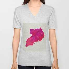 Personalized Art Print Uganda Map Art Print Original Custom Map Art Print Available in Multiple Size Unisex V-Neck
