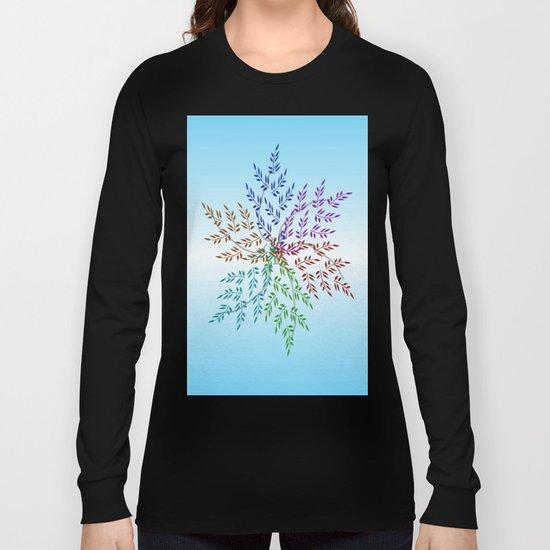 Leafy Rainbow Mandala Long Sleeve T-shirt
