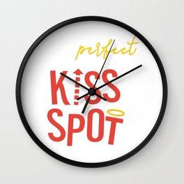 Perfect Kiss Spot Wall Clock