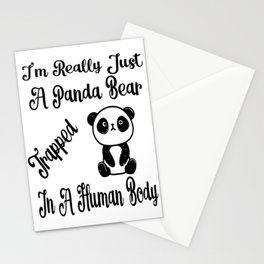 I'm Really Just A Panda Bear Trapped In A Human Boy Gifts Stationery Cards