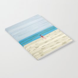 Swimmer on a Winter Beach Notebook