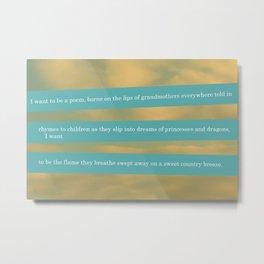 """Walking Words"" By: Jessica Zhang Metal Print"
