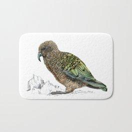 Mr Kea, New Zealand parrot Bath Mat