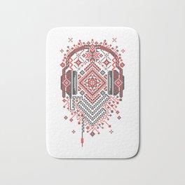 Headphones Ornament Bath Mat