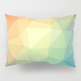LOWPOLY RAINBOW Pillow Sham